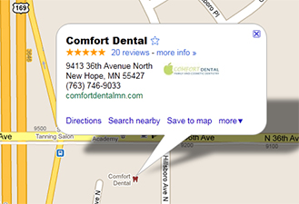 Comfort Dental Google Maps Location